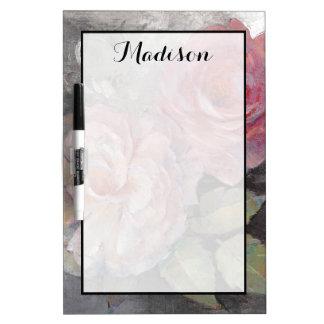 Tableau Effaçable À Sec Ajoutez vos roses nommés de | sur le gris