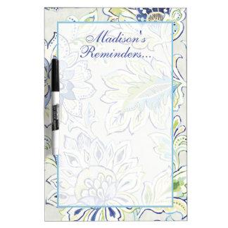 Tableau Effaçable À Sec Ajoutez votre fleur bleue | de Bohème nommée