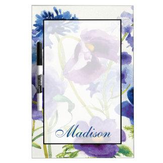 Tableau Effaçable À Sec Ajoutez votre jardin mélangé bleu et pourpre nommé
