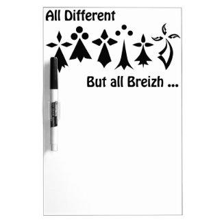 Tableau Effaçable À Sec All different but all Breizh Bretagne
