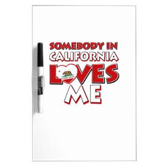 Tableau Effaçable À Sec amour de la Californie