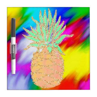 Tableau Effaçable À Sec Ananas coloré pareau