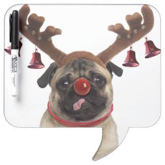 Tableau Effaçable À Sec Andouillers de carlin - carlin de Noël - Joyeux