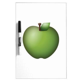 Tableau Effaçable À Sec Apple vert - Emoji