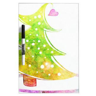 Tableau Effaçable À Sec Arbre de Noël d'aquarelle