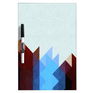 Tableau Effaçable À Sec Art géométrique bleu rouge