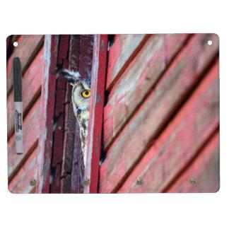 Tableau Effaçable À Sec Avec Porte-clés Conseil sec d'effacement de hibou avec les