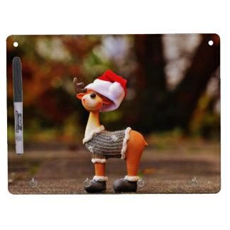 Tableau Effaçable À Sec Avec Porte-clés Décorations de renne - renne de Noël