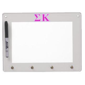 Tableau Effaçable À Sec Avec Porte-clés Lavande de Kappa de sigma et lettres roses