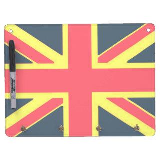 Tableau Effaçable À Sec Avec Porte-clés Porte-clé et crayon (horizontal) Drapeau UK