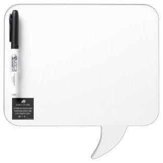 Tableau Effaçable À Sec Bulle carrée de la parole avec le stylo