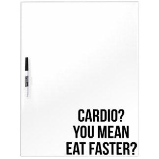 Tableau Effaçable À Sec Cardio- ? Vous moyens mangez plus rapidement ? -