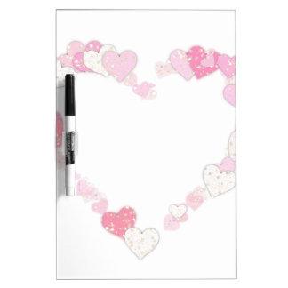 Tableau Effaçable À Sec Coeur rose d'amour