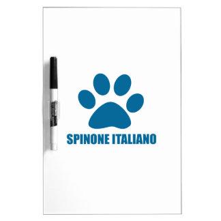 TABLEAU EFFAÇABLE À SEC CONCEPTIONS DE CHIEN DE SPINONE ITALIANO