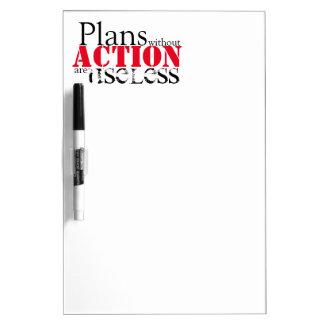 Tableau Effaçable À Sec Conseil sec d'effacement d'action de plan