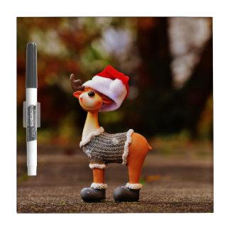 Tableau Effaçable À Sec Décorations de renne - renne de Noël