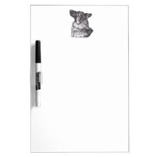 Tableau Effaçable À Sec Dessin classique de portrait de profil de berger
