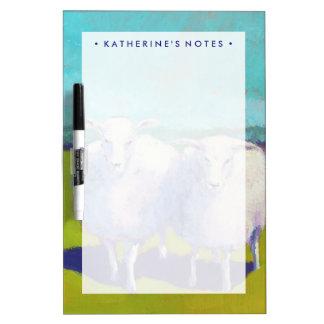 Tableau Effaçable À Sec Deux moutons dans le domaine
