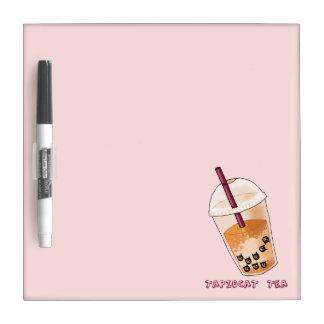 Tableau Effaçable À Sec Illustration de calembour de thé de Tapiocat