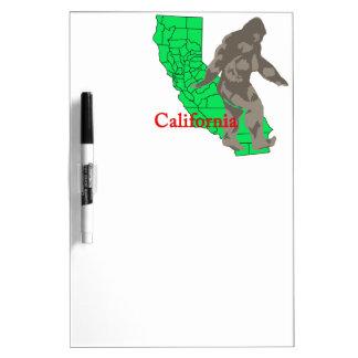 Tableau Effaçable À Sec La Californie Bigfoot