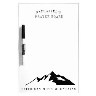 Tableau Effaçable À Sec La foi peut déplacer le conseil de prière