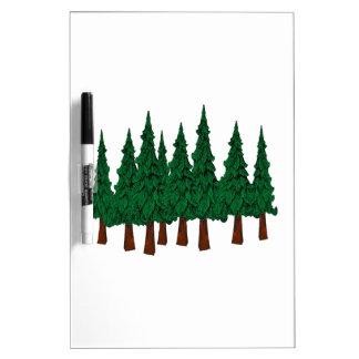 Tableau Effaçable À Sec La forêt à feuillage persistant