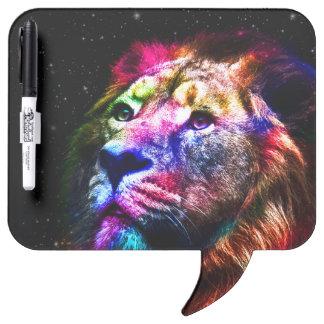 Tableau Effaçable À Sec Lion de l'espace - lion coloré - art de lion -