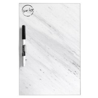 Tableau Effaçable À Sec Logo fait sur commande de marbre blanc élégant