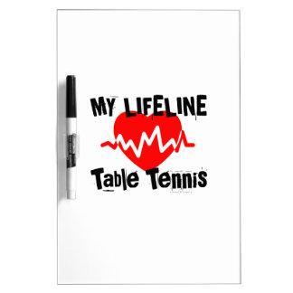 Tableau Effaçable À Sec Ma ligne de vie ping-pong folâtre des conceptions