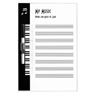 Tableau Effaçable À Sec Ma musique - panneau impromptu de musique de