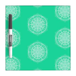 Tableau Effaçable À Sec Mandala de menthe