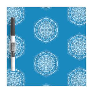 Tableau Effaçable À Sec Mandala d'oiseau bleu