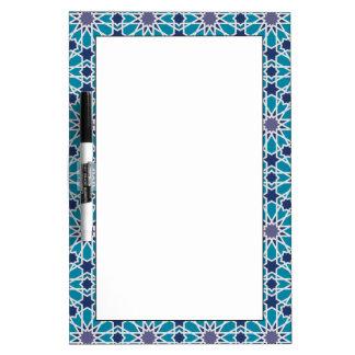Tableau Effaçable À Sec Motif abstrait dans bleu et gris
