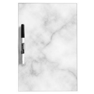 Tableau Effaçable À Sec Motif de marbre blanc élégant chic