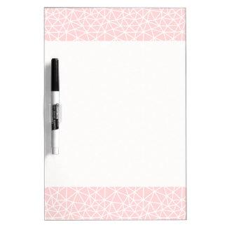 Tableau Effaçable À Sec Motif géométrique blanc rose Girly de rayures