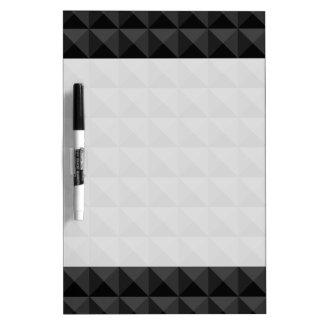 Tableau Effaçable À Sec Motif géométrique moderne de carré noir