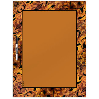 Tableau Effaçable À Sec Motif moderne de silhouette de feuille d'automne