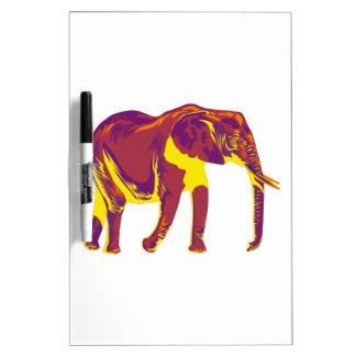 Tableau Effaçable À Sec Mouvements d'éléphant