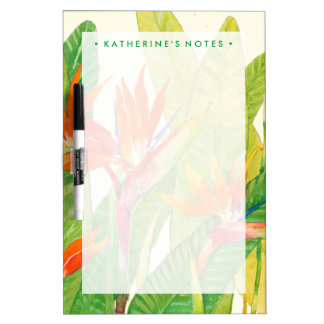 Tableau Effaçable À Sec Oiseau des fleurs | du paradis tropical