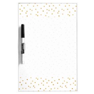 Tableau Effaçable À Sec Points modernes élégants de confettis de blanc et