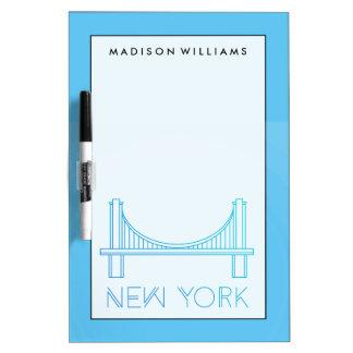 Tableau Effaçable À Sec Pont de Brooklyn   New York City