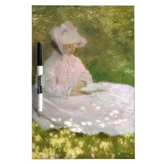 Tableau Effaçable À Sec Printemps par Claude Monet