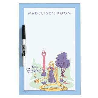 Tableau Effaçable À Sec Rapunzel et Pascal à de jolis pastels