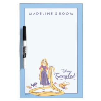 Tableau Effaçable À Sec Rapunzel et pastels de pourpre de Pascal