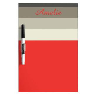 Tableau Effaçable À Sec Rayures rouges de palette de parapluie