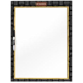 Tableau Effaçable À Sec Trait horizontal vertical grand panneau simple
