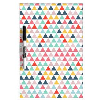 Tableau Effaçable À Sec Triangles de couleur de cirque