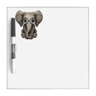 Tableau Effaçable À Sec Verres de port d'éléphant ringard de bébé
