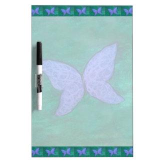 Tableau Effaçable À Sec Vert bleu pourpre passionné de papillon du bureau
