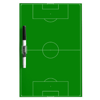 Tableau Effaçable À Sec Vert de terrain de football